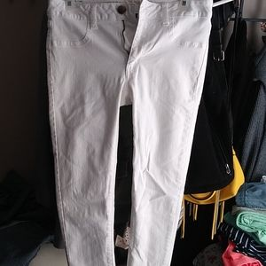 AE white jeggings